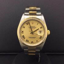 Rolex 36mm Datejust 16233 Oyster Band Two Tone Steel & 18k...