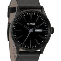 Nixon Sentry Leather A105-001 All Black Herrenuhr
