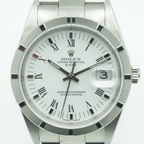 Rolex Oyster Perpetual Date 34 Stainless Steel White Roman Dial