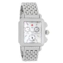 Michele Deco Diamond Ladies MOP Quartz Chronograph Watch...