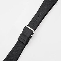 Perigáum Textil-Lederband 28 x 170 mm schwarz silberne Schliesse