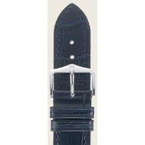 Hirsch Duke Lederarmband blau L 01028080-2-24 24mm