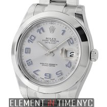 Rolex Datejust II Stainless Steel Silver Dial With Purple...