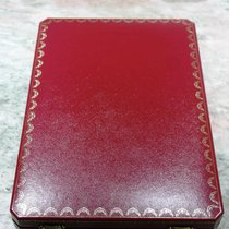 Cartier vintage and rare maxi red leather box for parure jewelry