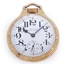 Hamilton 10k Gold-Filled 992-B Pocket Watch