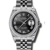 Rolex Unworn 116244 Datejust 36 mm with Black Sunbeam Dial -...
