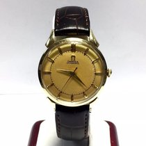 Omega 14k Yellow Gold Automatic Men's Watch W/ Brown...
