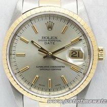 Rolex Oyster Date 15223 quadrante argento full set