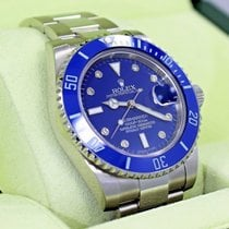 Rolex Submariner 116610 Steel Blue Ceramic Bezel Diamond Dial...