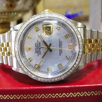 Rolex Oyster Perpetual Datejust Diamonds Yellow Gold S/steel...