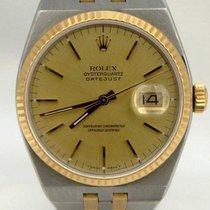 Rolex Mens Rolex Datejust Oyster Quartz Two Tone Steel 18k...