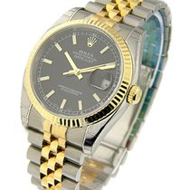 Rolex Used 116233_Black_stick_used Mens 2-Tone DATEJUST with...