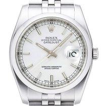 Rolex Oyster Datejust 36mm 116200 Jubilé Weiss Index
