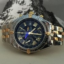 Breitling Crosswind Pilot Gold Steel Blue Roman Dial 43 mm