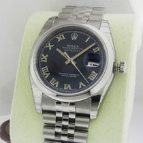 Rolex Datejust 36mm Blue Roman Jubilee 116200 Box and Papers