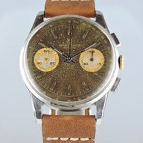 Breitling 1960s Chocolate-Dial Chronograph Ref. 1782 Valjoux 188