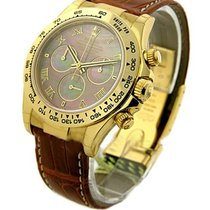 Rolex Unworn 116518 Yellow Gold DAYTONA on Strap 116518 -...