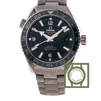 Omega Seamaster Planet Ocean Co Axial 600m GMT blue titanium