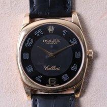 Rolex Cellini Danaos Black Dial Gold