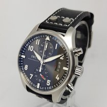 IWC Pilot Spitfire Chronograph 43mm Mens Steel Watch Full Set