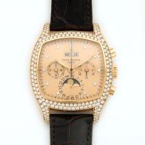 Patek Philippe Rose Gold Perpetual Calendar Chrono Diamond...