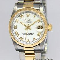 Rolex Datejust 18k Yellow Gold/Steel White Roman Dial Midsize...