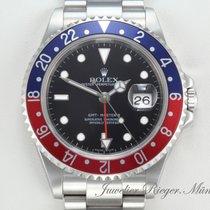 Rolex GMT Master II Stahl 16710 T Pepsi Automatik Rectangular...