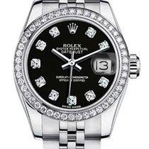 Rolex Women's New Style Steel Datejust with Custom Diamond...
