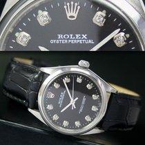 Rolex Oyster Perpetual Diamond Dial Steel Mens Watch Ref# 1002