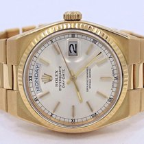 Rolex President Day-date 19018 18k Yellow Gold Stick Dial...