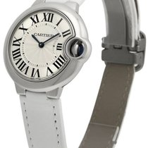 Cartier W6920086 Ballon Bleu 33mm Silver Dial Women WHT...