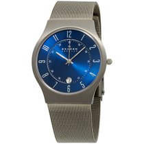 Skagen Blue Dial Stainless Steel Case Men's Watch 233xlttn