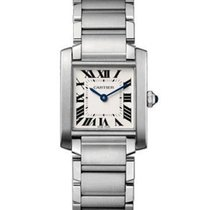 Cartier WSTA0005 Tank Francaise Mens Large Quartz in Steel -...
