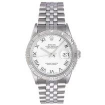 Rolex Turnograph Men's Steel Watch with Thunderbird Bezel...