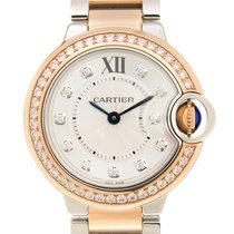 Cartier Ballon Bleu 18k Rose Gold Silver Quartz W3BB0009