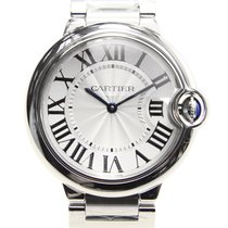 Cartier Ballon Bleu Stainless Steel Silvery White Quartz W69011Z4
