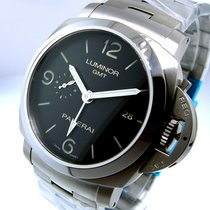 Panerai Unworn  Pam 329 Steel 44 Mm Luminor 1950 Gmt Black...