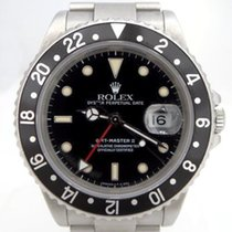 Rolex Oyster Gmt Master II Date Black Dial Stainless Steel...
