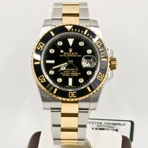 Rolex Submariner Date 116613 Rolex Black Diamond Dial Box...