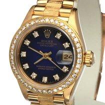Rolex Oyster Datejust Bark Yellow Gold Diamonds 26 mm (Full Set)