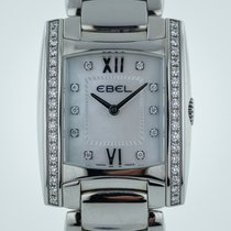 Ebel Brasilia Ladies, Stainless Steel, MOP Diamond Dial,...