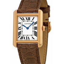 Cartier W5200024 Tank Solo Small in Rose GOld - on Brown...