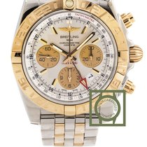 Breitling Chronomat 44 GMT Chronograph Steel/Pink Gold Silver...