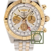 브라이틀링 (Breitling) Chronomat 44 GMT Chronograph Steel/Pink Gold...