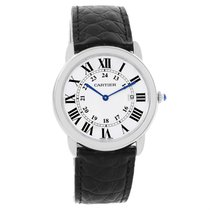 Cartier Ronde Solo Large Steel Black Strap Unisex Watch W6700255
