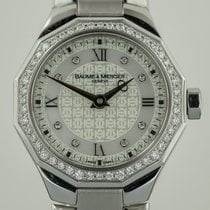 Baume & Mercier Riviera, Stainless Steel, Ladies, Diamonds...