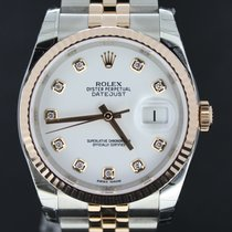 Rolex Datejust 36MM Gold/Steel Factory Setted Diamonds,Full Set