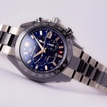 Seiko Grand Seiko Ltd Edition Ceramic SpringDrive Chronograph GMT