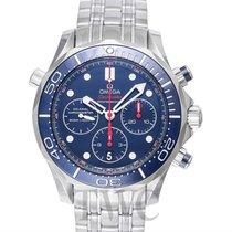 Omega Seamaster Diver 300m Chronograph Blue Steel 44mm -...