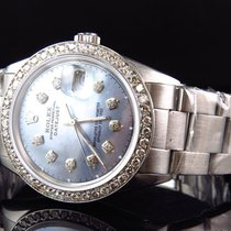 Rolex Mens Rolex 36 MM Datejust Oyster Pave MOP Stainless...